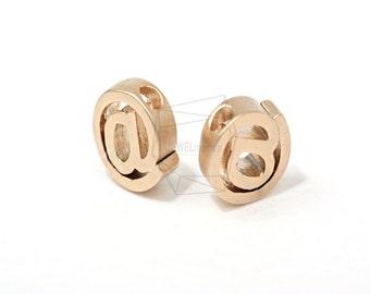 JS10191/5pcs,At Symbol @,@ Pendant,Twitter Internet Jewelry,Tiny mini @,email sign Pendant, Connectors,Matte Gold Tarnish Resistant Small @