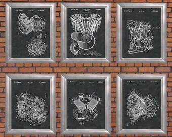 Harley Print Harley Davidson Wall Art Motorcycle Decor Unique Harley  Davidson Engine Motor Cycle Mechanic Part 36