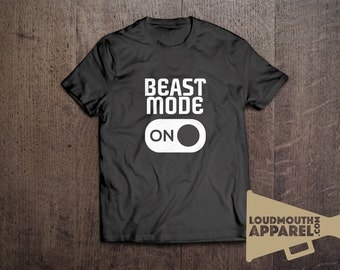 Beast Mode On Gym Workout Fitness Men's T-Shirt Humour Funny Tees
