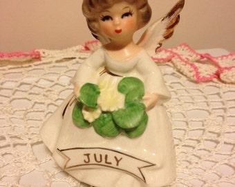 Vintage July Birthday Angel