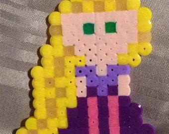 Perler Bead Glowing Hair Rapunzel