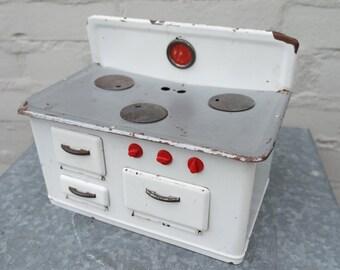 Vintage 50s doll's tin stove/miniature stove