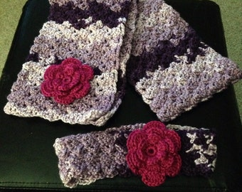 Girls scarf and head band set