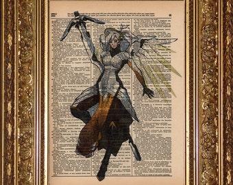 Mercy (Overwatch) Dictionary Art Prints