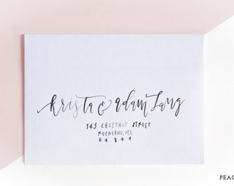 Envelope Adressing - Peach