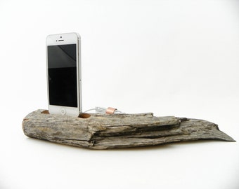 Aged and Untouched Phone Docking station with USB Cable, Phone 6+ Dock, iPhone 5, 6 and 6+ Docking Station made from Aged Manzanita Wood