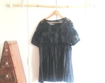 Handmade Dress - Boho Dress - Vintage Dress - Eco Clothing - Upcycled Clothing - Shabby Chic - Evening - Wearable Art