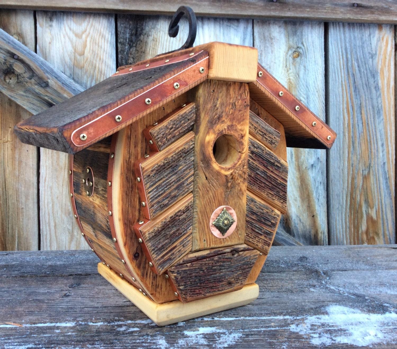 Unique Bird Houses Designs: Unique Barnwood Birdhouse Recycled Reclaimed Handmade