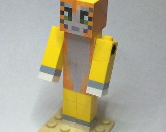 Lego Minecraft Custom - Stampy Long Nose - A minecraft inspired figure