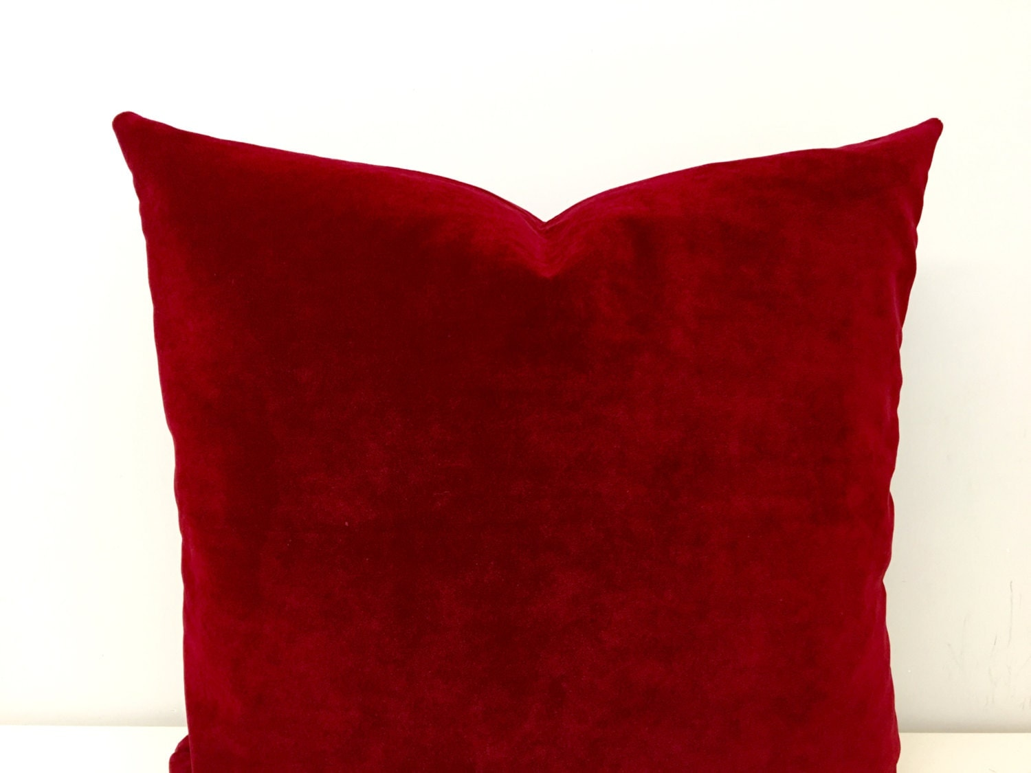 Red Velvet Decorative Pillows : Red velvet pillow cover cushions Decorative Pillows by cottonsema