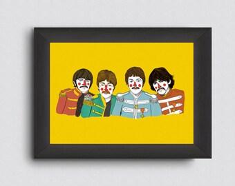 Ilustración 'The Beatles'. Lámina de decoración. Ilustración para decorar tu casa. Dibujo. Fan art