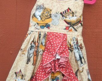 "Sun dress - ""Cats, Kittens, and Kitties, Oh My"" (2T)"