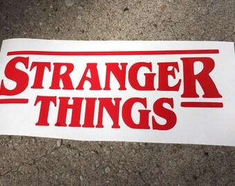 Stranger Things Decal- Stranger Things