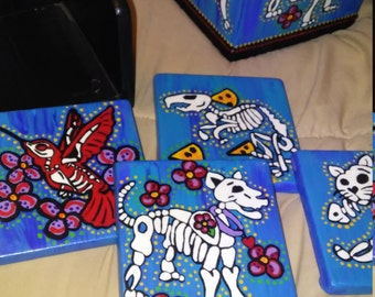 Tissue Box Holder& Coasters