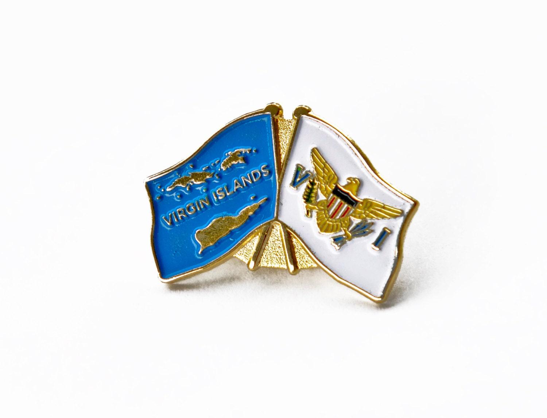 Flag and US Virgin Islands Pin Lapel Pin Hat Pin Trading