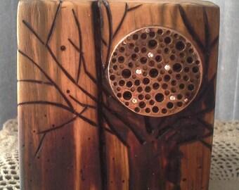 Wood Candle Holder/Libra Candle Holder/Reclaimed Wood/Tea Light Candle Holder
