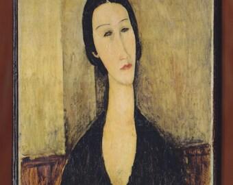 Amedeo Modigliani, Portrait of Anna Zborowska, RISD Museum of Art.FREE SHIPPING