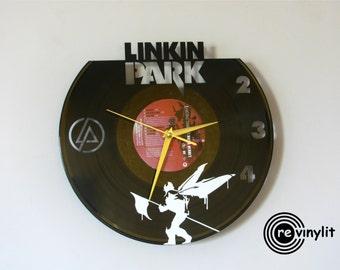 Linkin Park clock, vinyl record clock, Linkin Park, Linkin Park clock, vinyl wall clock, record wall clock, vinyl clock