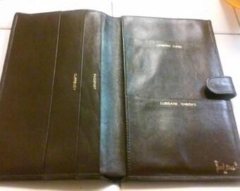 Bond street passport/travel leather wallet