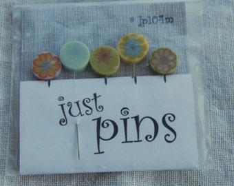 20% off -- Just Another Button Company Just Pins Spring Floral Theme