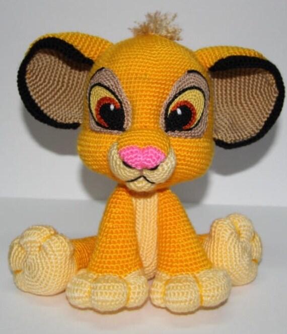Lion Kion Simba Crochet Pattern Pdf English Usa Rey Leon