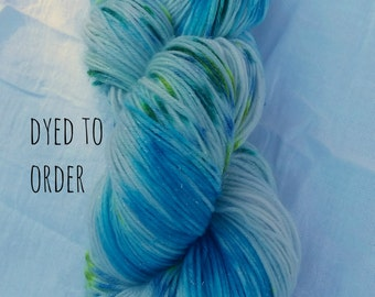 Mermaid Lagoon - Hand-Dyed / Hand-Painted Yarn - Superwash Merino Wool - Dyed To Order