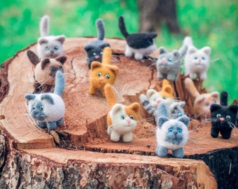 Small kittens of natural wool