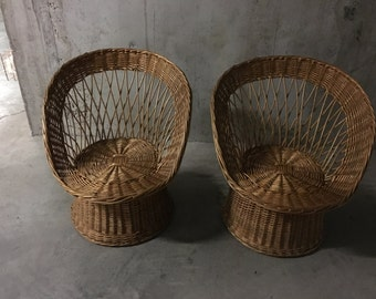 Pair of chairs 60s diabolo