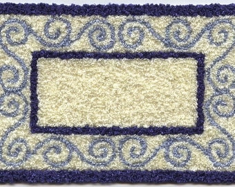 Bunka Rug kits - 1/12th scale - Scroll border design, small size.