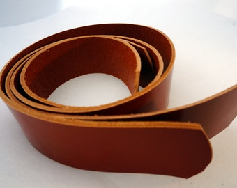 3 cm/ 1.18 inches - 1 pair of Glossy brown leather straps, leather handles, leather purse straps, bag straps, craft supplies, anses cuir