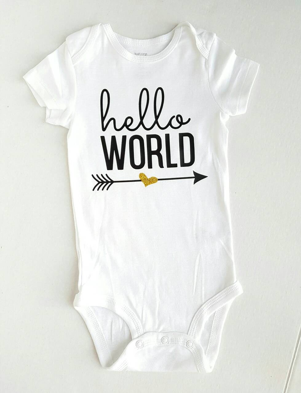 Hello World Onesie / Take Home Outfit / Coming Home Outfit