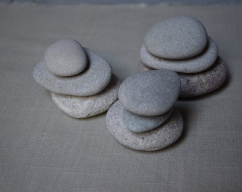sea stones set beach stones sea pebbles crafting light art stones