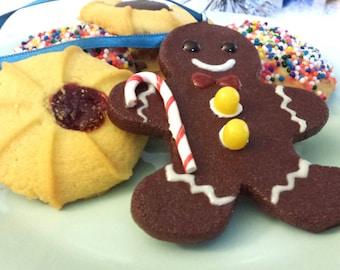 Gingerbread Man Miniature Food Christmas Ornament