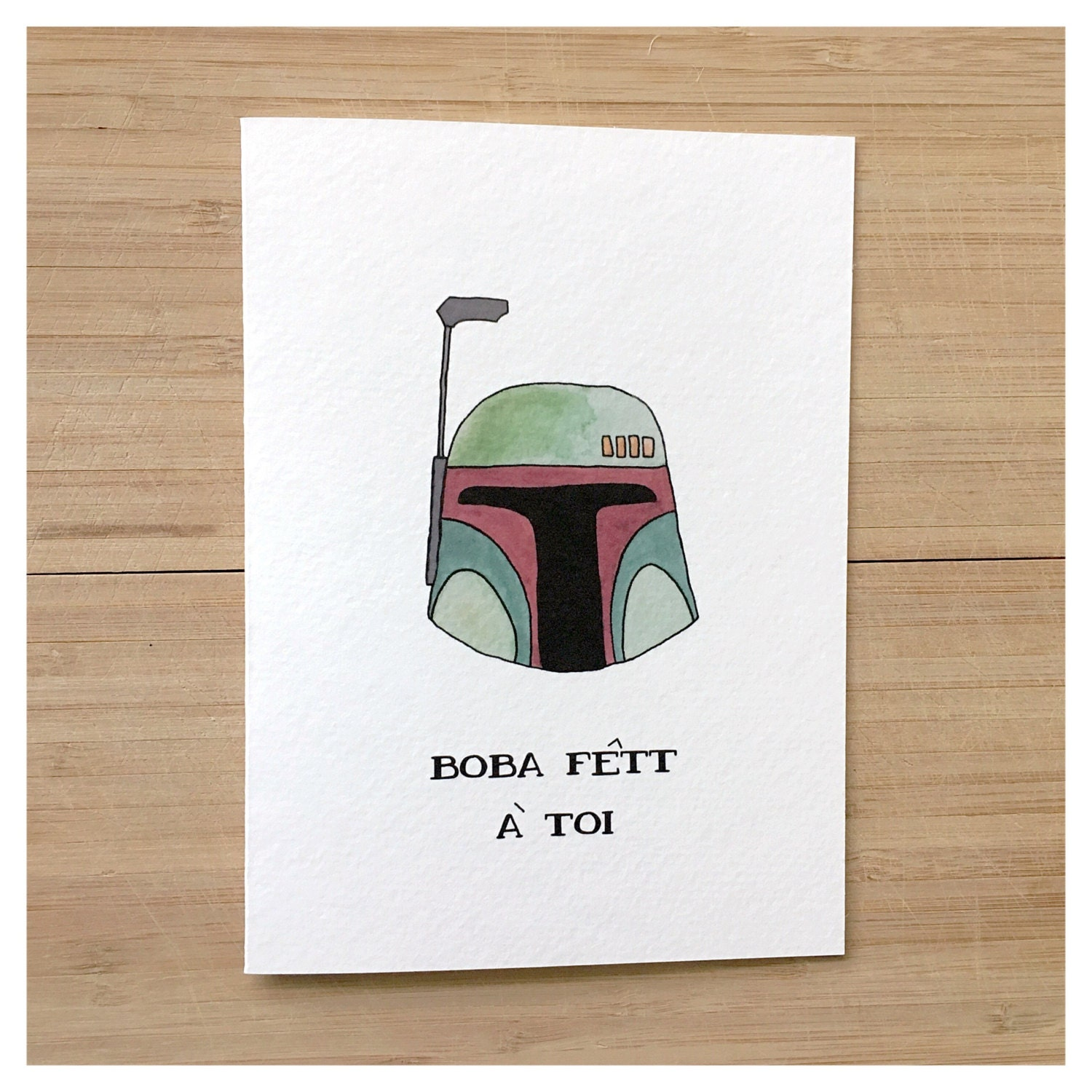 BOBA FETT birthday card funny birthday card french card – Star Wars Birthday Card