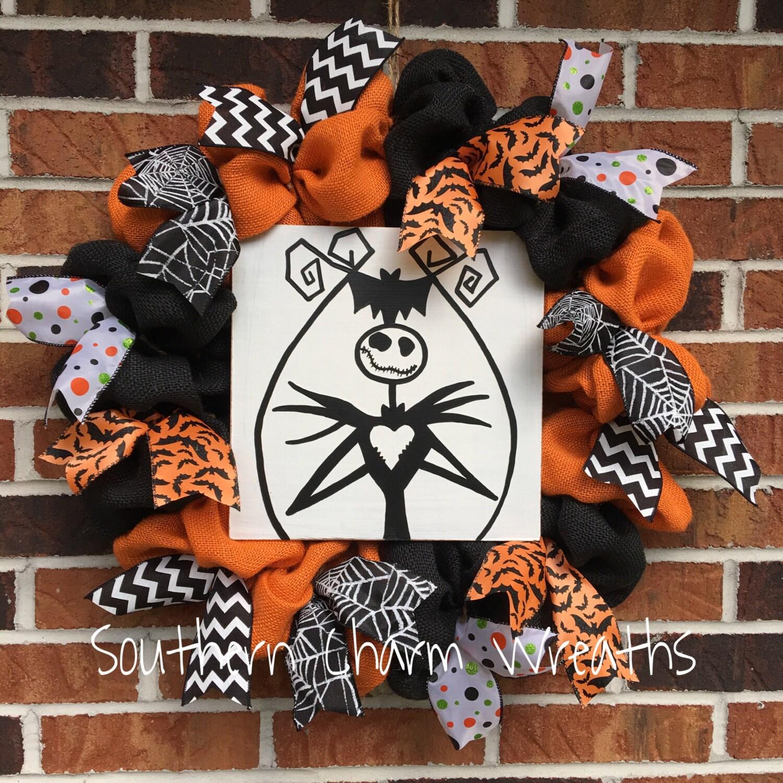 18 Orange & Black Burlap Jack Skellington Nightmare Before Christmas ...