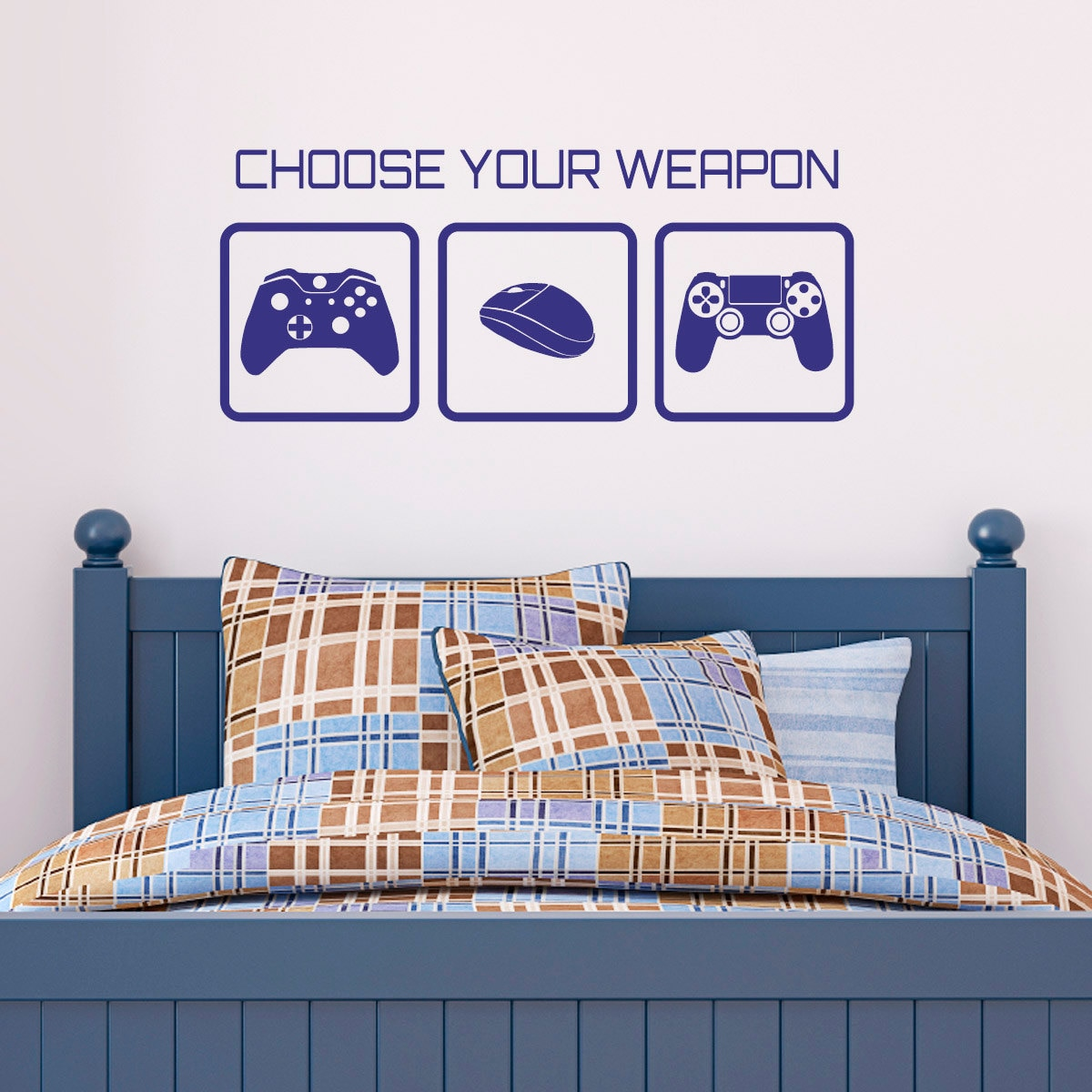 Gaming Wall Sticker Choose Your Weapon Video Game Wall By