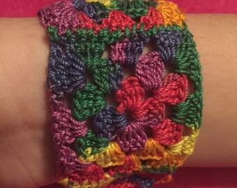 Rainbow Knitted Bracelet