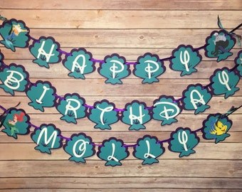The Little Mermaid Birthday Banner