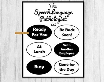 Speech Language Pathologist Gift Digital Download Gift for Speech Language Pathologist Door Sign Printable Door Decor School Printable