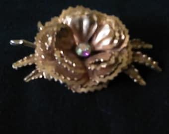60s/70s Flower Brooch