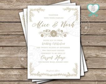 Casey Simple Wedding Invitation