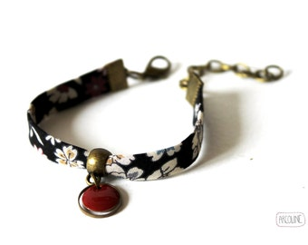 Bracelet Liberty Sequin enamelled plum