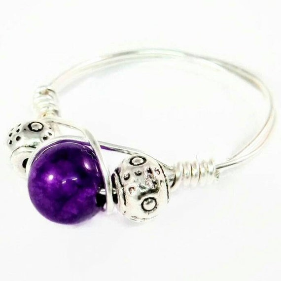 Amethyst Ring Birthstone Rings For Mom Girlfriend Silver