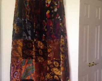 Gorgeous Velvet Patchwork Skirt