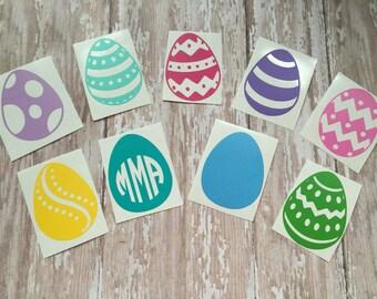 Easter Egg Decal | Easter Egg Monogram | Monogrammed Easter Egg | Easter Basket Decal | Personalized Easter Basked | Egg Decal