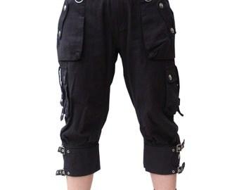 Gothic rock 3/4 shorts lady