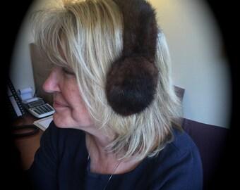 MInk Ear Muffs for a lucky skier!