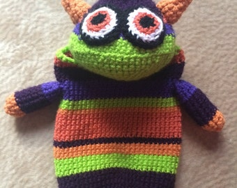Crochet Monster Bag Holder