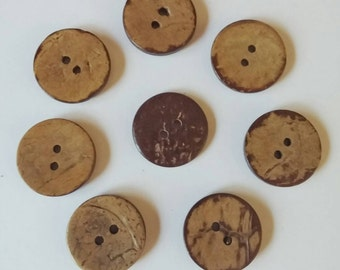 Coconut Buttons x 8 20mm