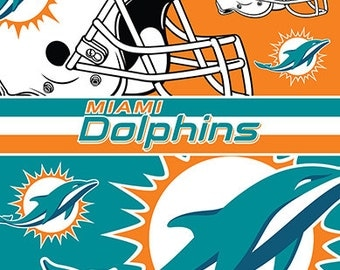 Miami Dolphins Beach Towel For 2 54x68